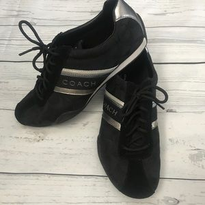 Coach Black and Silver Jayme Sneakers